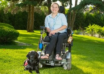 Arroyo Terrace person in wheelchair with dog